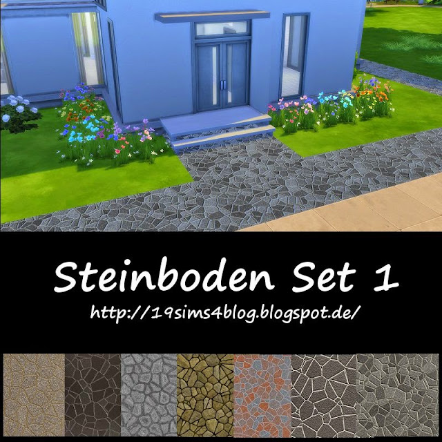 19 sims 4 blog steinboden set 1. Black Bedroom Furniture Sets. Home Design Ideas