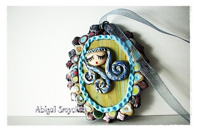 polymer clay, girl, armenian, ethnic