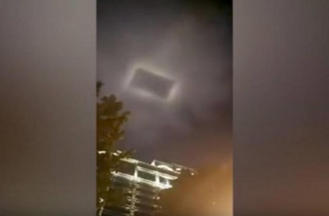 Μυστήριο με ορθογώνιο φως στον ουρανό της Κίνας (Βίντεο)