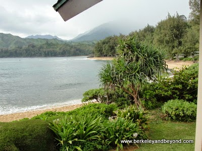 view from Hanalei Colony Resort in Haena, Kauai, Hawaii