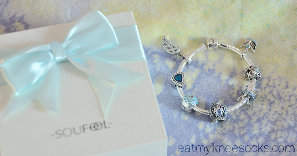 My completed Soufeel charm bracelet; affordable, high-quality, and beautiful!