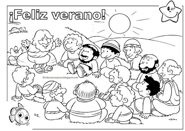La Catequesis (El blog de Sandra): Dibujo para colorear: ¡Feliz ...