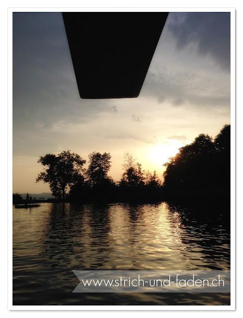 mit Strich und Faden | Sonnenuntergang Hediger Weiher