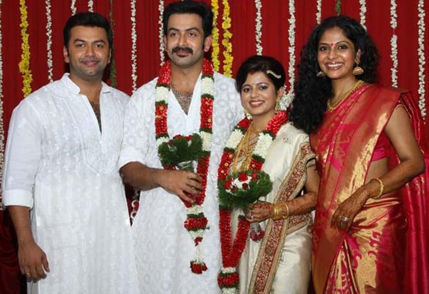 Actor Prithviraj Wedding Pictures