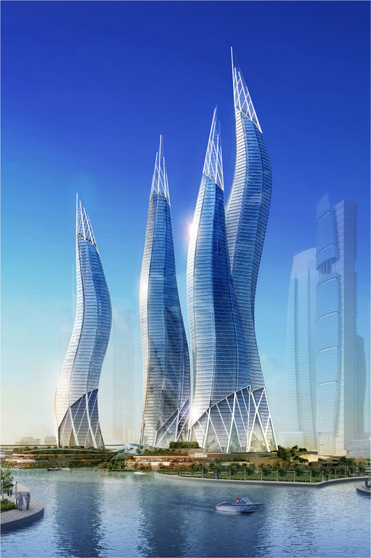 Dubai tower thompson in photos travel and tourism for Dubai architecture moderne