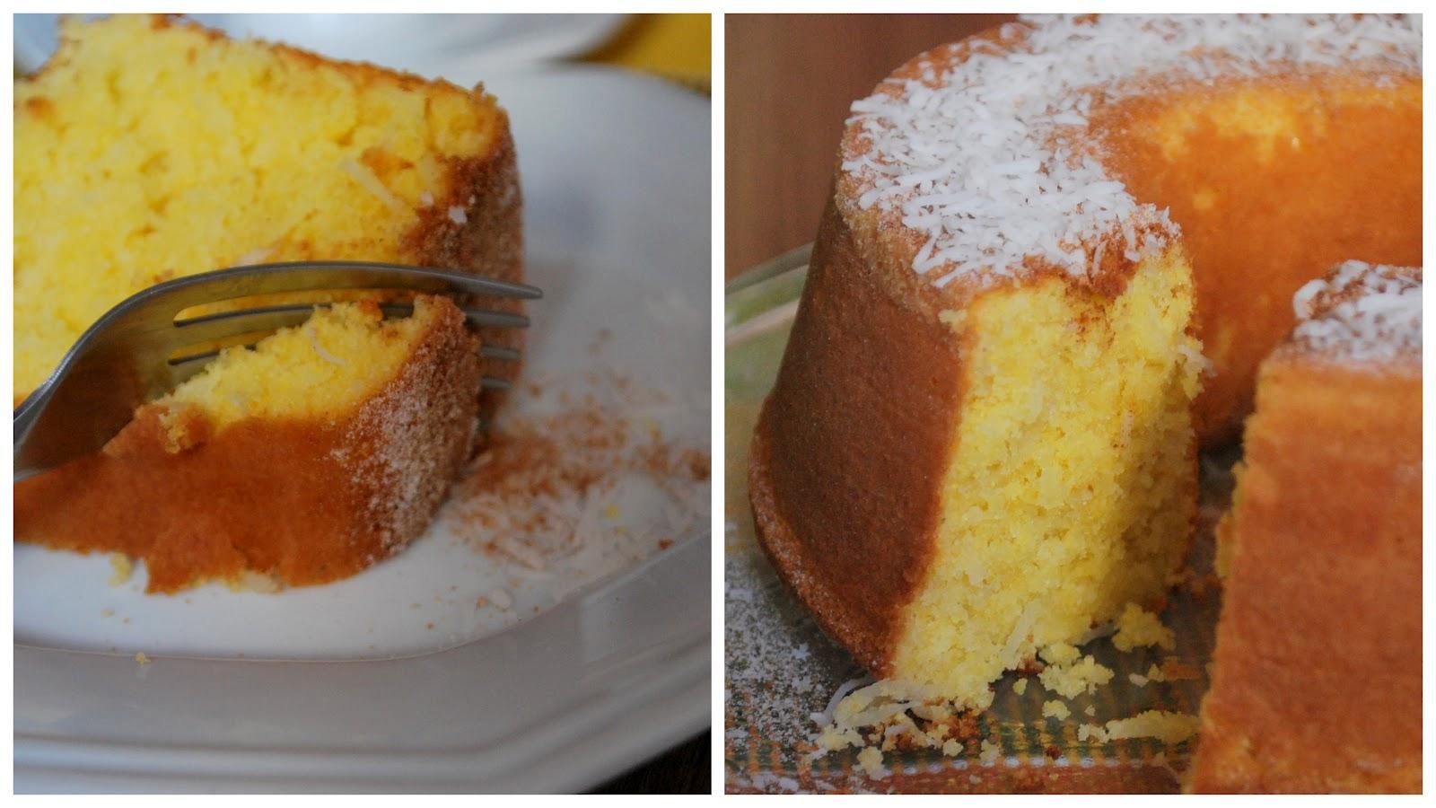 Blogging Foods: Cornmeal and Coconut Cake (Bolo de Fuba com Coco)