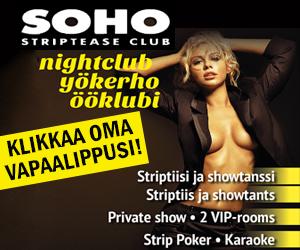 Ilmainen sisäänpääsy SOHO-strippiklubille!