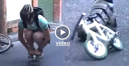 Το Μικρότερο 'Οδηγίσημο' Ποδήλατο Του Κόσμου - Βίντεο