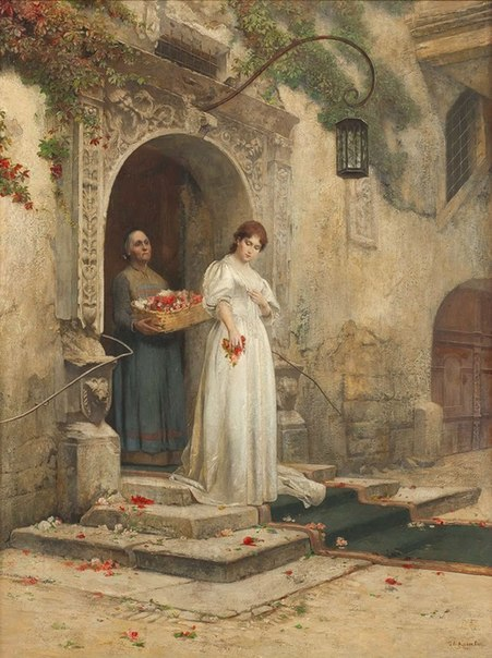 Marriage procession 1888 painting