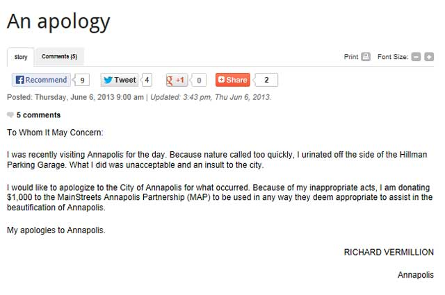 Nothing To Do With Arbroath Man Writes Letter Of Apology