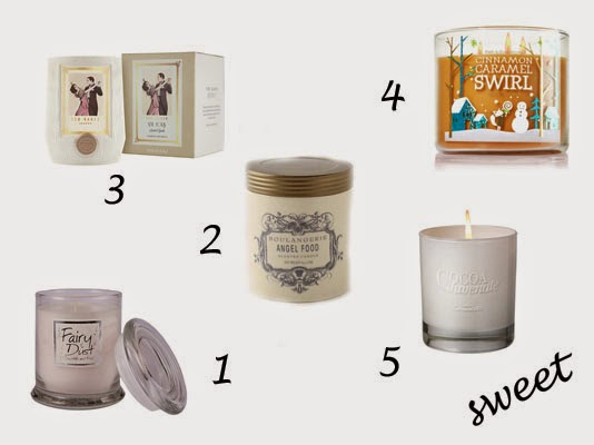 sweet scented candles