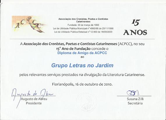 Certificado pela ACPCC