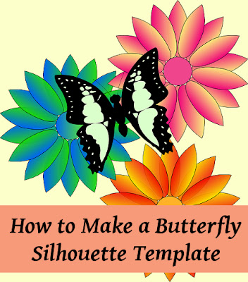 Tutorial to make a card template for a stencil butterfly