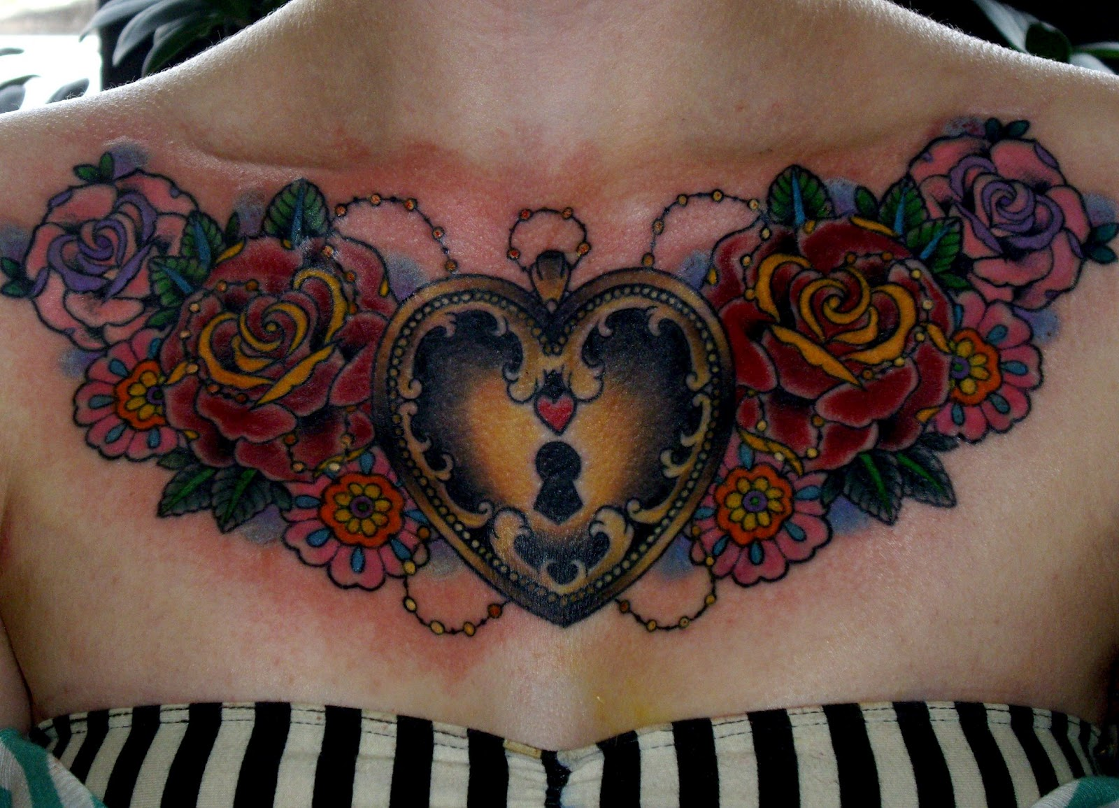 Sometimes sweet tattoo tuesday for Chest tattoo for women