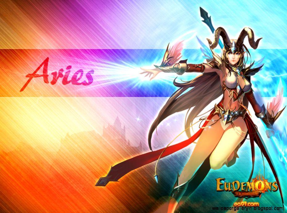 Aries Zodiac Cartoon Wallpaper Desktop 10199 Wallpaper