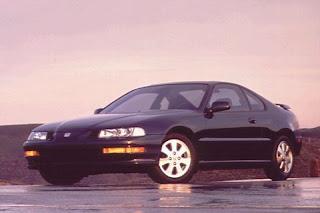 black Honda Prelude 1993