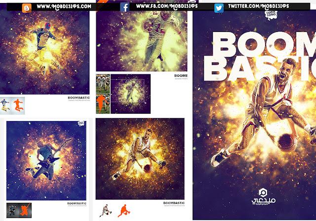 أكشن إحترافي للفوتوشوب | Boombastic - Square Photoshop Action