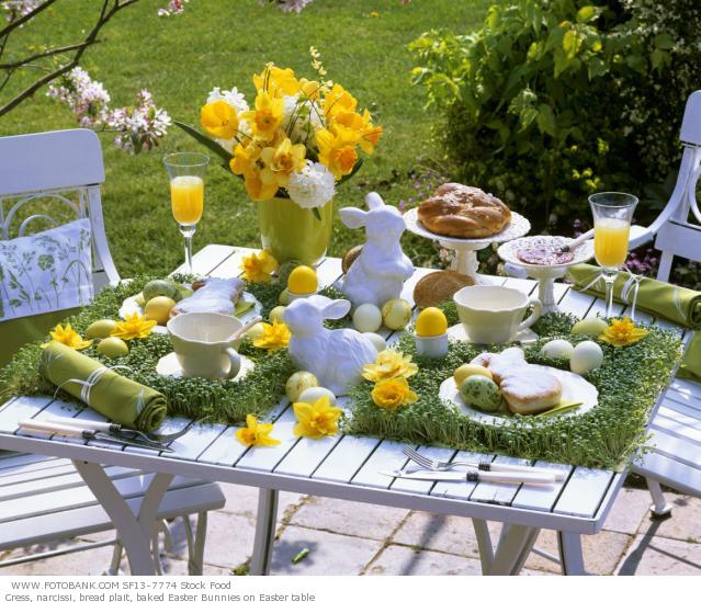 Easter table settings and decorations ideas avant design for Easter decorating ideas table setting