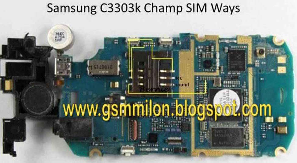 Samsung Champ C3303 Sim Ways