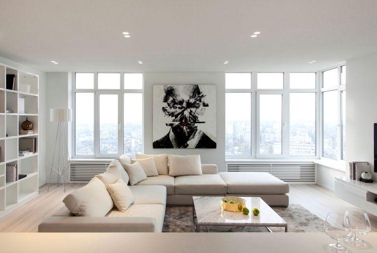 Salones modernos con mucha iluminaci n salas con estilo - Iluminacion salon moderno ...
