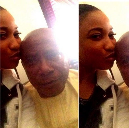 Actress Tonto Dike Shares Her Dad's Picture chiomaandy.com