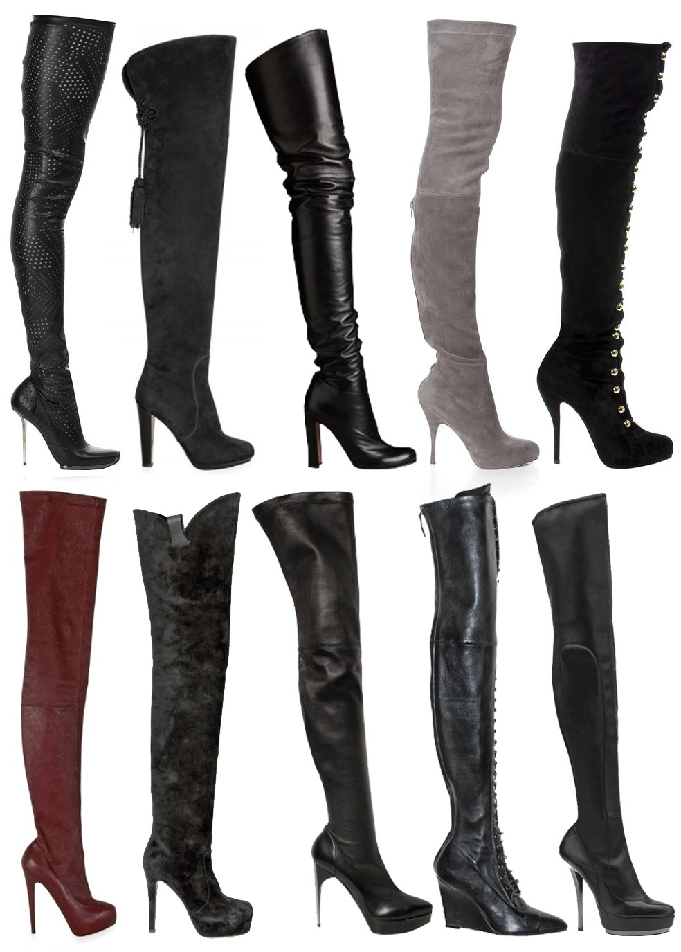 GLAMOUR &amp PEARLS: My Obsession with Thigh High Boots...