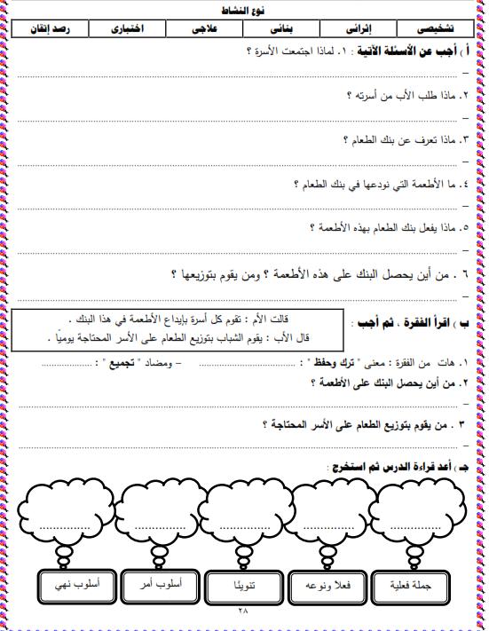 شيتات المجموعة المدرسية لمادة اللغة العربية للصف الثالث الابتدائى على هيئة صور للمشاهدة والتحميل The%2Bsecond%2Bunit%2B3%2Bprime_011