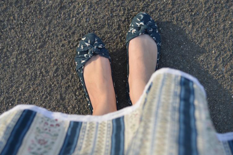 ballerina, flats, shoe, Pimkie, blue
