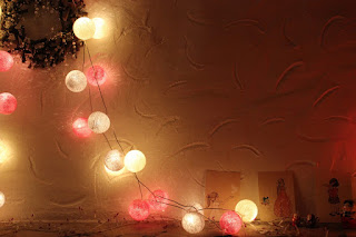 cotton ball fairy lights