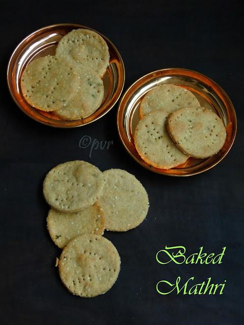 Baked sesame mathri, Baked mathri