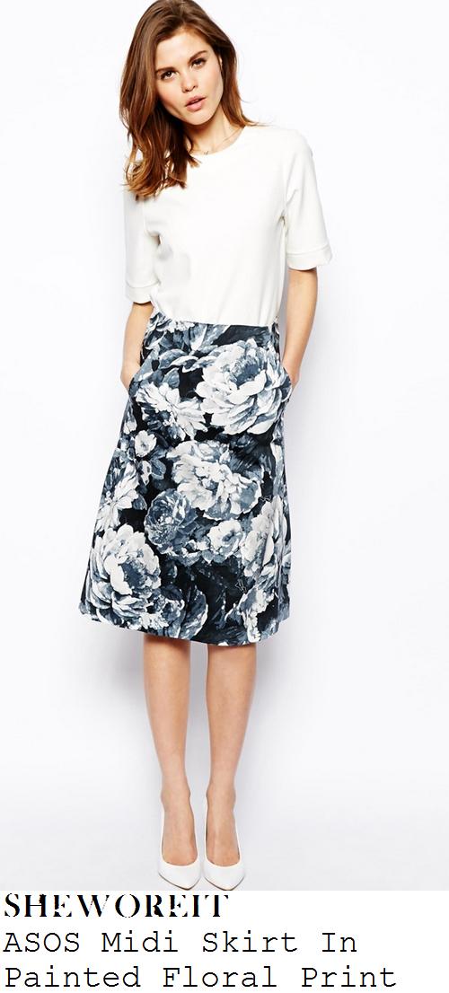 lauren-pope-black-white-grey-floral-print-high-waisted-midi-skirt-i-cant-sing