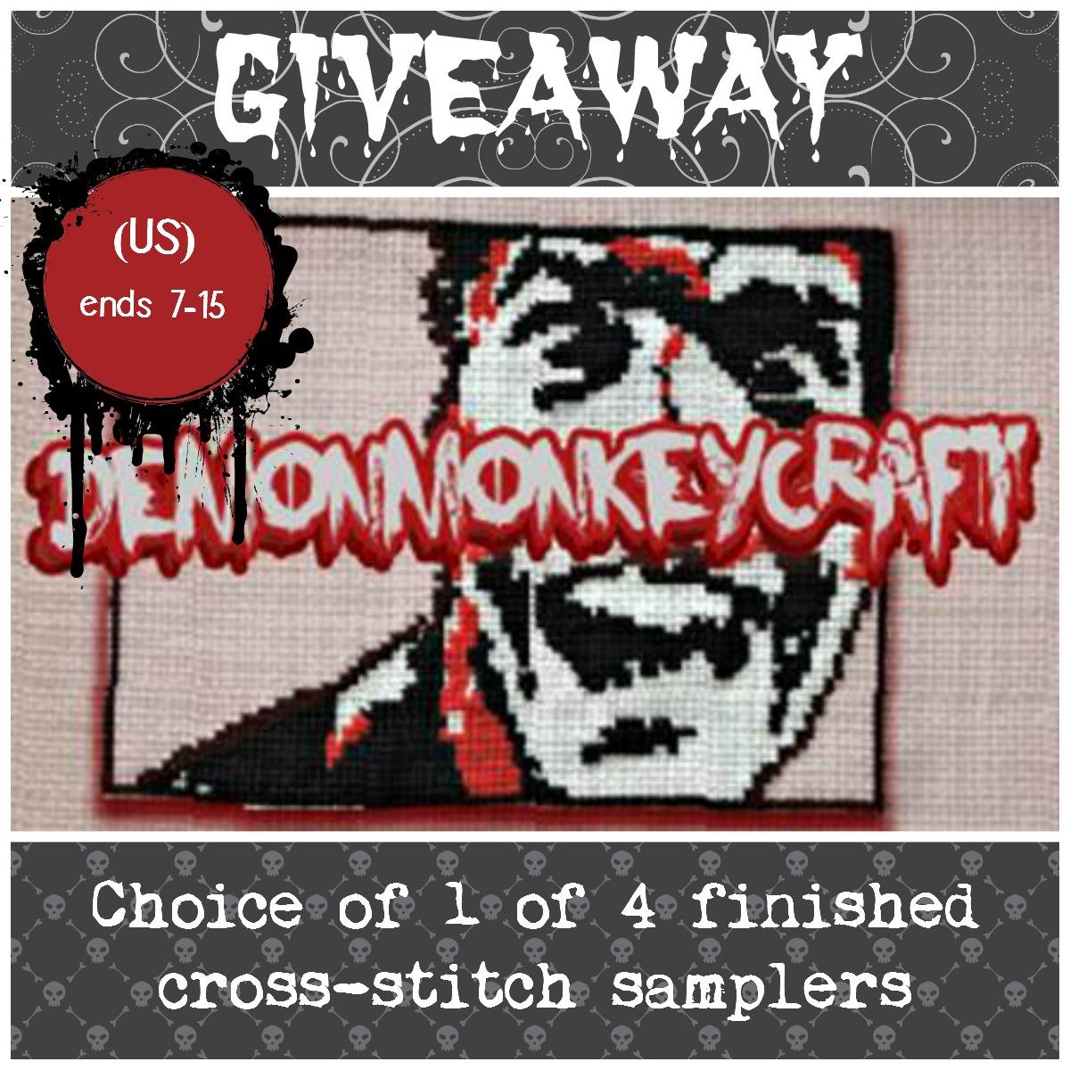 Demon Monkey Craft Cross-Stitch