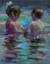 CHILDREN PLAYING IN QUIET WATERS