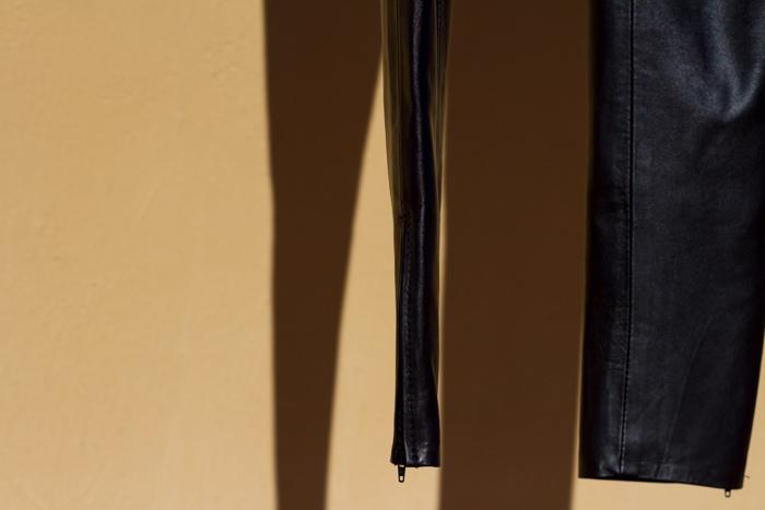 Pantalones leggins de cuero hechos a medida de Gabriel Seguí marca valenciana blogger Valencia withorwithoutshoes