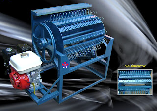 mesin perontok padi diesel