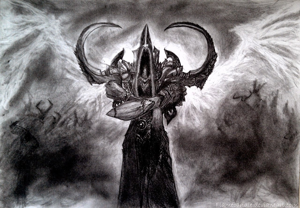 a drawing of malthael