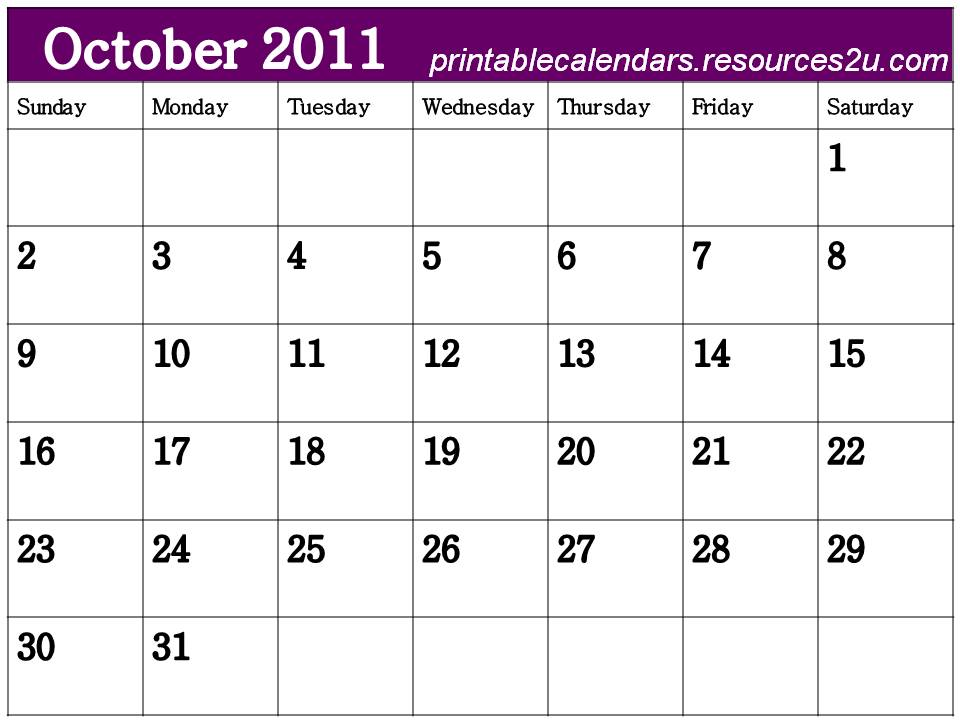 blank calendar 2011. Free Blank Calendar 2011
