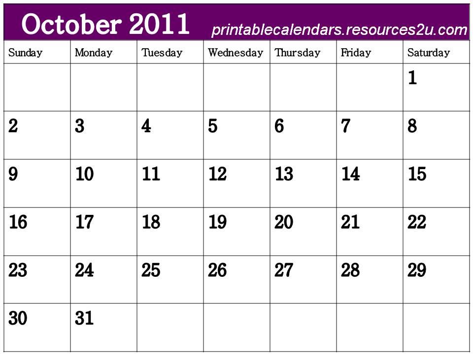 free printable blank calendars 2011. Free Blank Calendar 2011