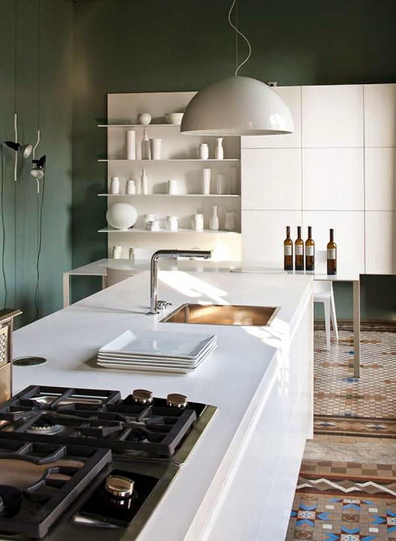 cómo organizar tu cocina alrededor de una isla