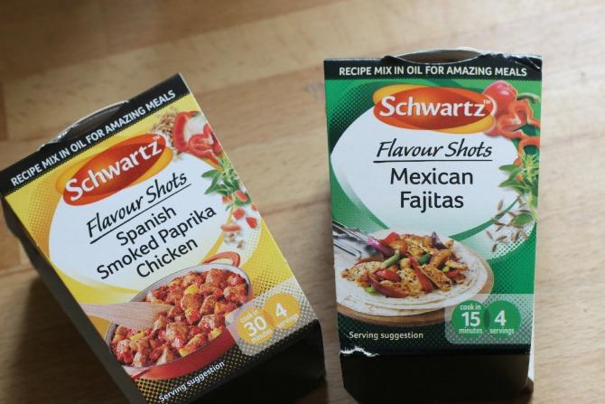 Schwartz flavour shots