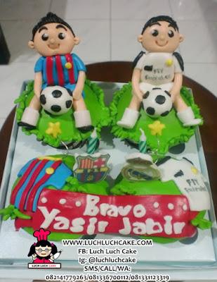 Cupcake Real Madrid and Barcelona Surabaya - Sidoarjo