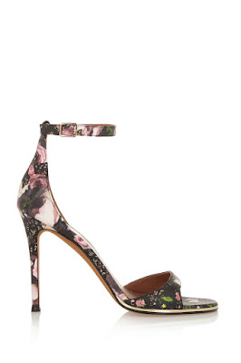 givenchy barely there high heeled sandals with floral print