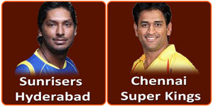 SRH Vs CSK is on 8 May 2013