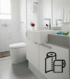 decoração de banheiro com adesivos