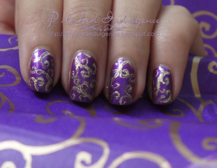 Nail Art Designs Purple And Gold Hession Hairdressing