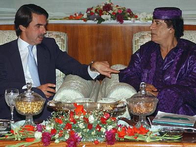 """El amargo final de Gadafi, o barcelonistas sociatas o """"¡aquello estuvo feo!"""""""