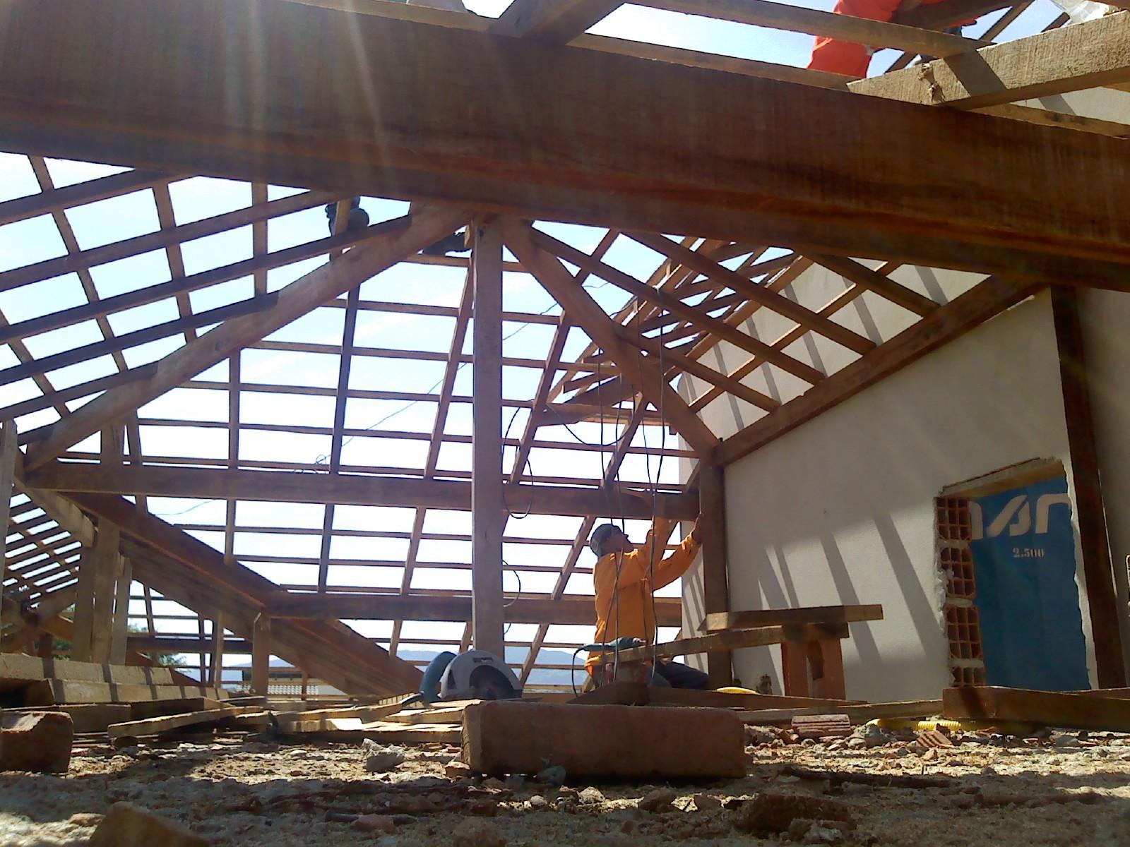 #3D818E Colocação dos batentes contra marcos e madeiramento do telhado 3891 Como Montar Janelas De Aluminio Da Linha Suprema