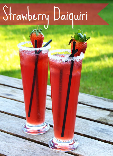 Strawberry Daiquiri Cocktail Summer Recipe