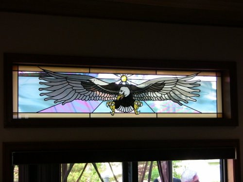 Sgo victoria stained glass overlay bald eagle stained for Eagle windows