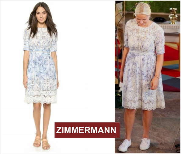 Crown Princess Mette-Marit In A Zimmermann Dress